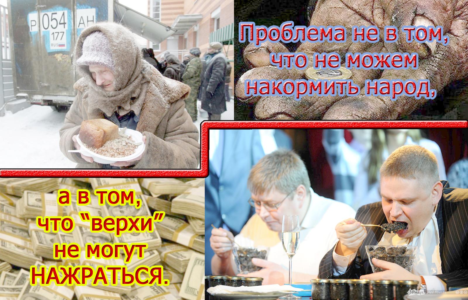 бедные кормят богатых
